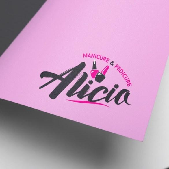 אליסיה קוסמטיקה- עיצוב לוגו