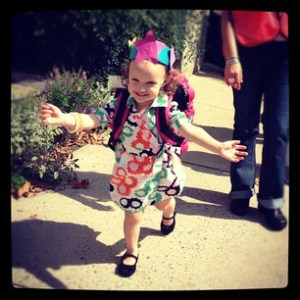 Ava coming out of school
