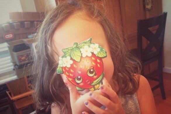 Ava with school eraser
