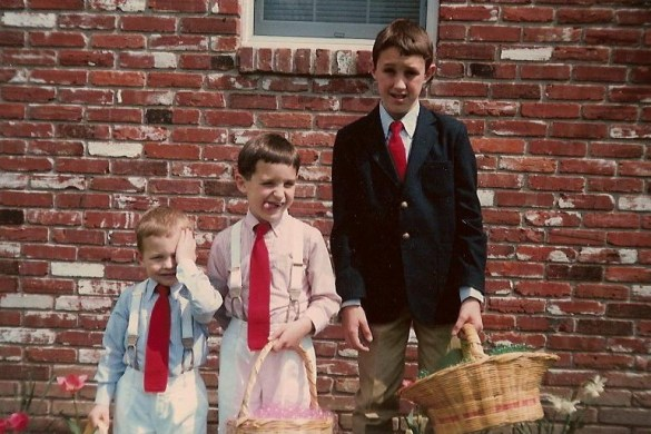 Kulp brothers as kids at Easter