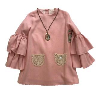 vestido rosa Nora Norita Nora