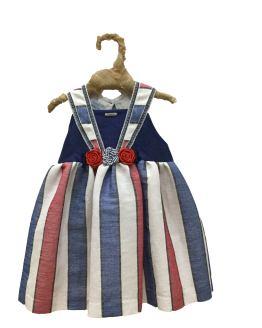 Foque vestido rayas Colección Mykonos