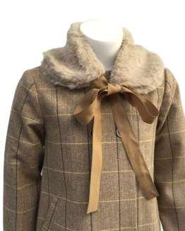 Detalle Eve Children abrigo paño marrón