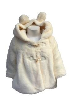 Detalle Dolce Petit abrigo pelo bebé beige