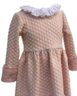 Detalle Mon Petit Bonbon vestido rosa pelo