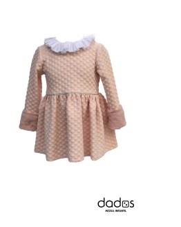 Mon Petit Bonbon vestido rosa pelo