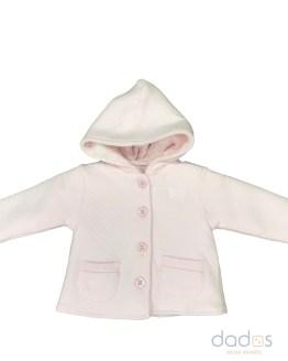 Tutto Piccolo chaquetón rosa punto