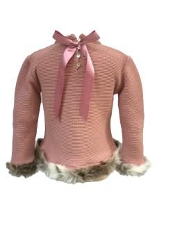 Sigar jersey niña pelo rosa empolvado detalle parte trasera