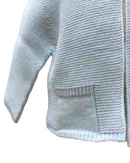 Dolce Petit chaqueta bebé celeste detalle