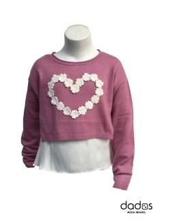 IDO jersey orquídea corazón