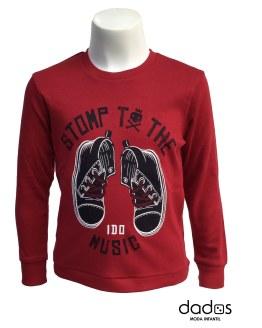 IDO camiseta roja botas
