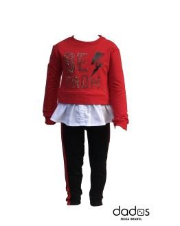 Aygey Conjunto legging y sudadera roja