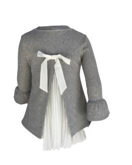 Espalda Elsy vestido gris