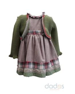 Outlet Loan Bor vestido y chaqueta verde