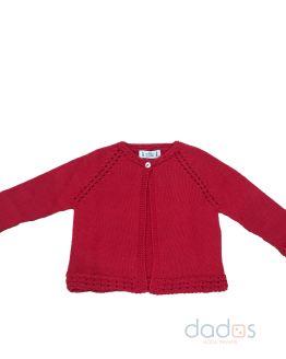 Marta y Paula chaqueta roja calada en sisa