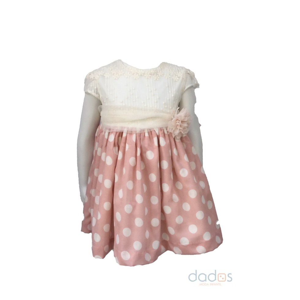Dolce Petit vestido topos rosa