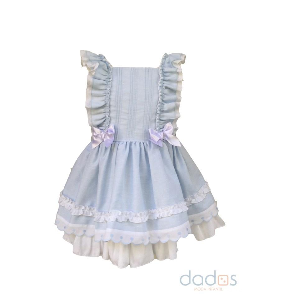Dolce Petit vestido celeste con lazos