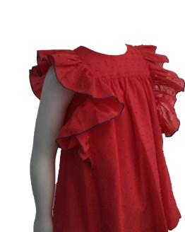 Detalles Mon Petit Bonbon vestido coral