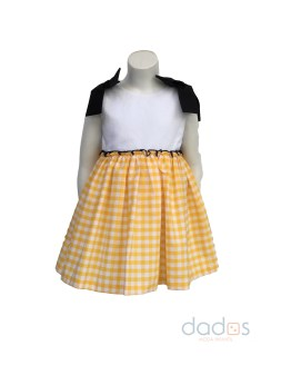 Mon Petit Bonbon vestido cuadros amarillos