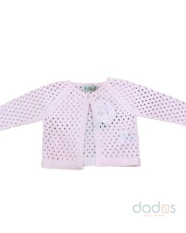 Marta y Paula chaqueta rosa calada