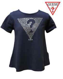 GUESS camiseta niña azul acampanada