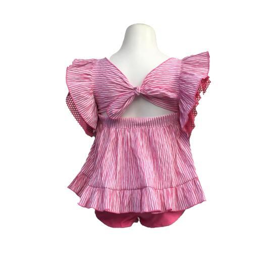 Espalda Lolittos colección Flameco conjunto blusa y short