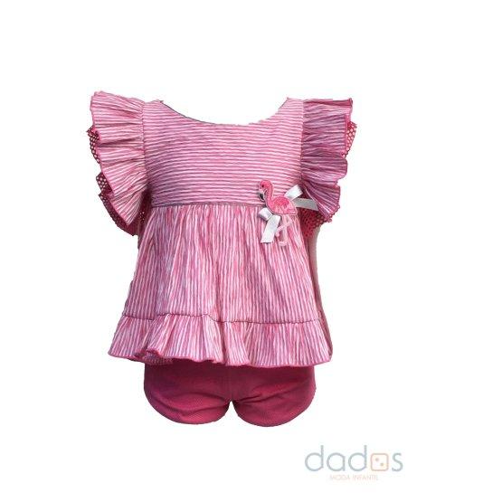 Lolittos colección Flameco conjunto blusa y short