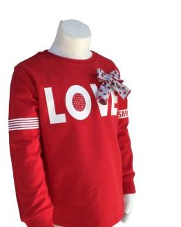 Detalle IDO conjunto legging y sudadera Love