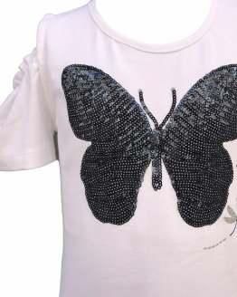 Detalle IDO vestido blanco mariposa
