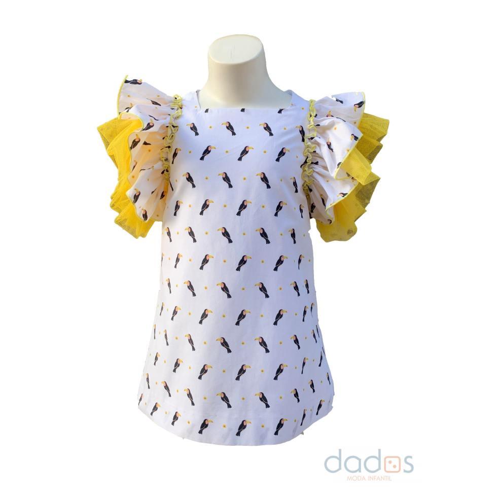 Baby Yiro vestido estampado tucanes
