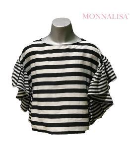 MONNALISA blusa rayas blanco y negro