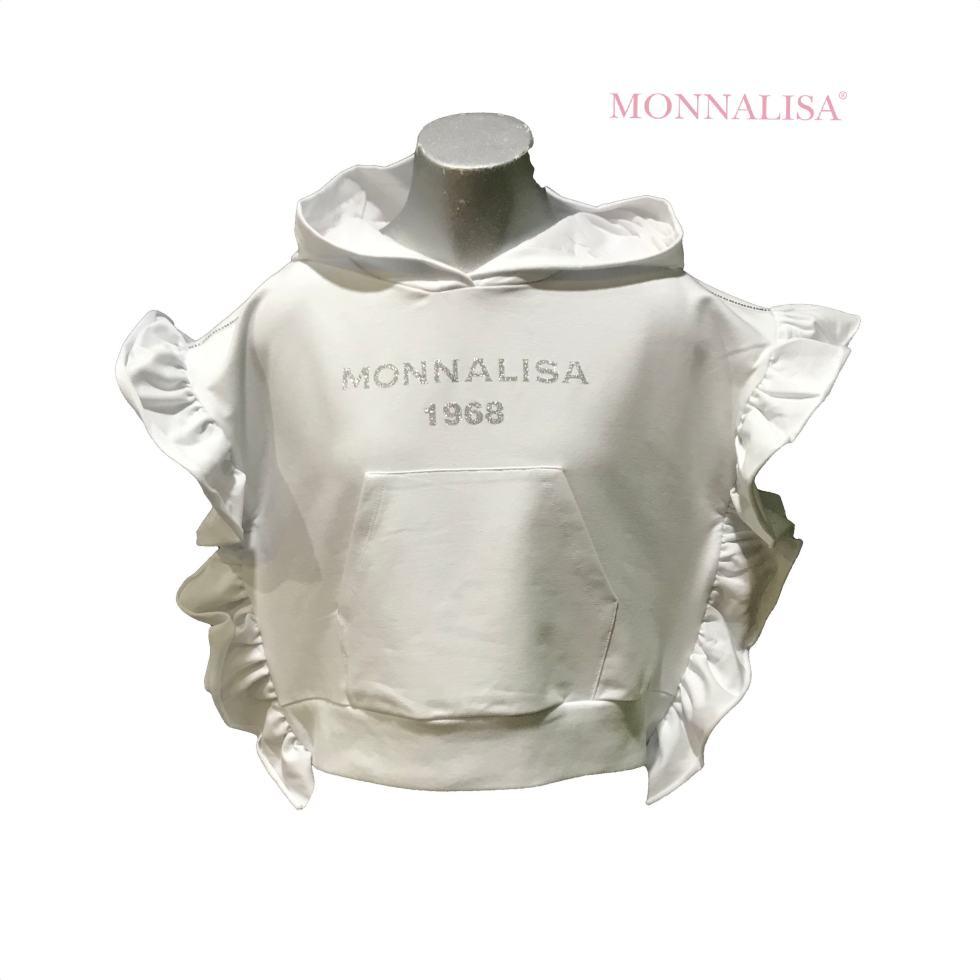 MONNALISA sudadera blanca con capucha