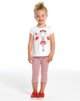 IDO conjunto legging y camiseta niña con flores catálogo