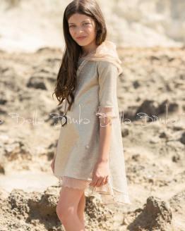 catálogo Bella Bimba colección Anjum vestido con capucha y collar
