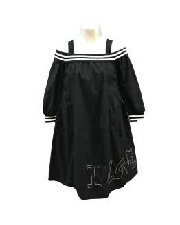 MONNALISA vestido Love negro