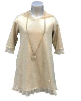 Bella Bimba colección Anjum vestido con capucha y collar