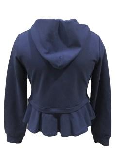 Espalda Elsy chaqueta felpa azul marino