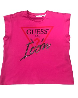 Guess camiseta ICON fucsia