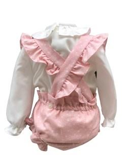 Espalda Dolce Petit conjunto rosa tres piezas