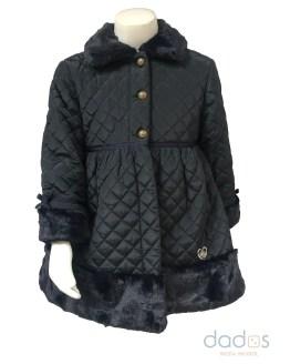 Dolce Petit abrigo azul marino vuelo