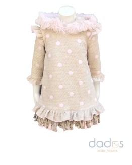 Lolittos colección Espinete vestido recto con capucha