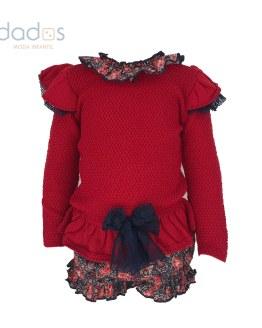 Lolittos colección Cachemir conjunto jersey y cubre niña