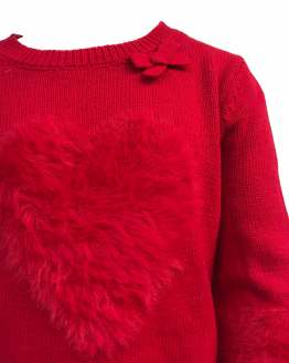 Detalle IDO jersey niña corazón rojo