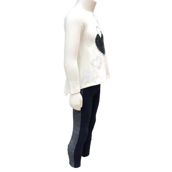 IDO conjunto legging y camiseta blanca corazón