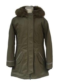 IDO abrigo niña verde militar