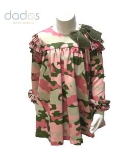 Mon Petit Bonbon vestido camuflaje vuelo