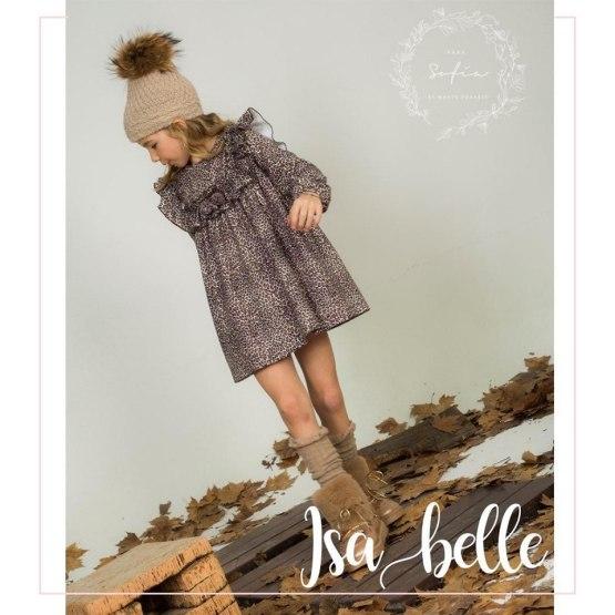 Para Sofía colección Isabelle vestido estampado animal catálogo