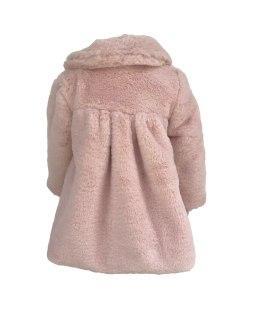 Espalda Marta y Paula abrigo mutón rosa