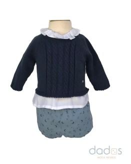 Micolino conjunto braga lunas con blusa y jersey