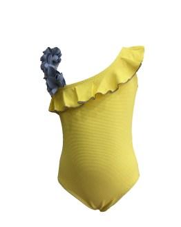 Manuela Montero bañador amarillo